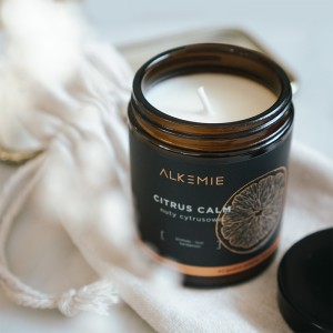 ALKEMIE Świeca sojowa 'Citrus Calm' 180ml